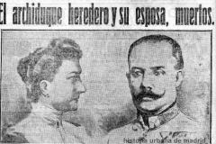 JUNIO-1914-ATENTADO DE SARAJEVO-29.06.1914-HERALDO DE MADRID-HUM 2014