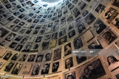 Jerusalem, Israel : May 15, 2018: .Yad Vashem is an official institution for the commemoration of the Holocaust in Israel located above the Mount of Remembrance in Jerusalem, in the western part of Mount Herzl. The Hall of Names in the Yad Vashem Holocaust Memorial Site in Jerusalem, Israel, remembering some of the 6 million Jews murdered during World War II The entrance to the site is free and open to everyone